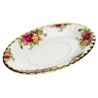 Royal Albert Old Country Roses Gravy Boat Stand [並行輸入品]