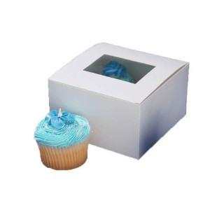 Darice 1404-282, Pastry Box with Window, 4-Piece package 6-Inch-by-6-Inch-by-3-1/2-Inch [並行輸入品]