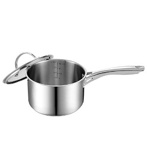 Cooks Standard NC-00349 Stainless Steel Sauce Pan with Cover, 3-Quart [並行輸入品]