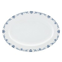 Gorham Kathy Ireland Home Nature's Song Oval Platter, 14-Inch [並行輸入品]
