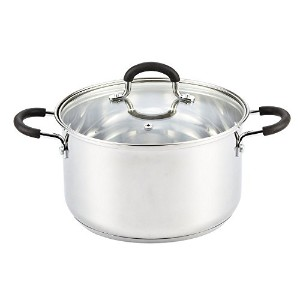 Cook N Home Stainless Steel 5 Quart Stockpot With Lid, Medium, Silver [並行輸入品]