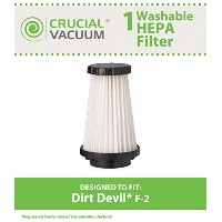 Dirt Devil F2 Washable Replacement HEPA Filter; Compare to Dirt Devil Part #3SFA11500X, 3-F5A115...