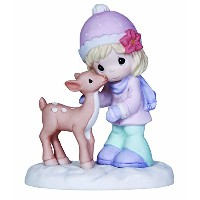 Precious Moments Girl with Deer Figurine [並行輸入品]