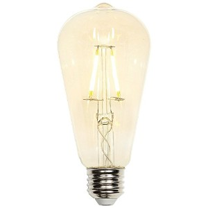 Westinghouse 0317700 5W (40W) Decorative St20 Dimmable Warm White Filament LED Light Bulb with...