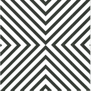 Caspari Entertaining 20-Pack Chevron Cocktail Napkins, Black [並行輸入品]