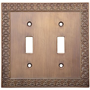 Stanley Hardware V8045 Pinnacle Double Switch Plate in Antique Bronze [並行輸入品]