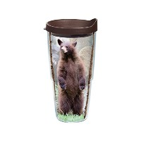 Tervis Bear Trio Wrap Tumbler with Brown Lid, 24-Ounce [並行輸入品]