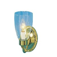 Volume Lighting 1-Light Polished Brass Wall Sconce [並行輸入品]