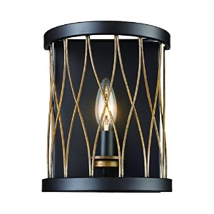 Trans Globe Lighting Riveted Wire Cage Wall Sconce Light, Rubbed Oil Bronze [並行輸入品]