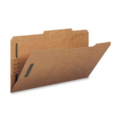 11 Point Kraft Folders, Two Fasteners, 2/5 Cut Top Tab, Letter, Brown, 50/Box (並行輸入品)