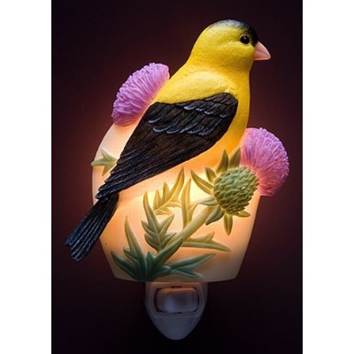 Ibis & Orchid Goldfinch & Thistle Night Light # 50037