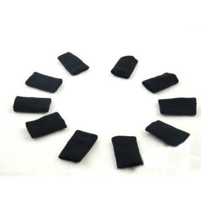 10pcs Sports Elastic Finger Sleeve Support Protector (black) by Sincere Trading
