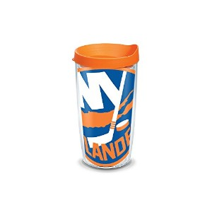 """Tervis 1104973"""" NHL NY Islanders Colos """" Tumbler withオレンジ蓋、ラップ、16オンス、クリア"""