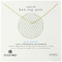 "[ドギャード]Dogeared ""Lasting Healing Gems"" Blue Quartz Gold Pendant Necklace, 16"" ネックレス ジュエリー[並行輸入品]"