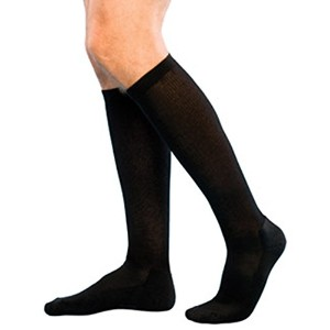 Compression Stocking 30-40mmHg Graduated, Black, Knee High Closed Toe, Size Large - By Levrexim by...