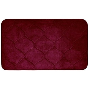 Bounce Comfort Palace Memory Foam Bath Mat, 20 by 34', Barn Red [並行輸入品]