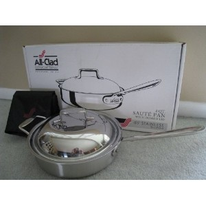 All-Clad d5 Stainless Brushed 4 Qt. Saute Pan with Domed Lid by All-Clad [並行輸入品]