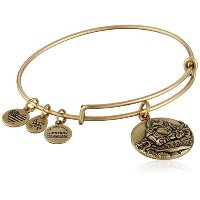 Alex and Ani Laughing Buddha Expandable Rafaelianバングルブレスレット One Size