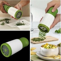 Drhob 1 pc Herb Mill Chopper Cutter Mince Stainless Steel Blades Safely New ( Color: White & Green)...