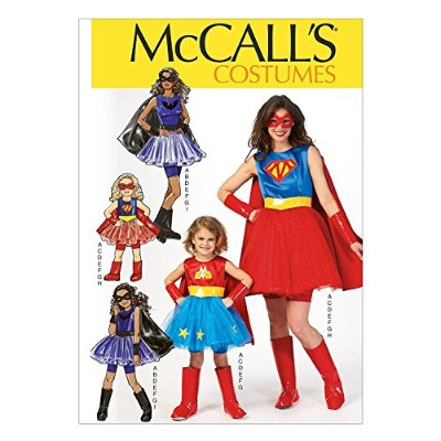 McCall Pattern Company M7001 Misses'/Children's/Girls' Costumes, Size MIS (Small-Medium-Large-X...