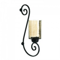Iridescent Glass Scroll Wall Sconce (EA)