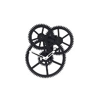 KIKKERLAND DESIGN TRIPLE GEAR WALL CLOCK [CL59] [並行輸入品]