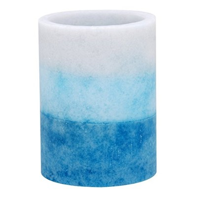 High Quality Tri-Layer LED Pillar Candle with Timer, 3 by 4-Inch, Seaside Fragrance