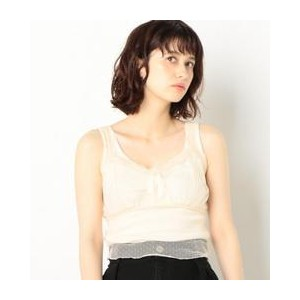 AEFC LACE DOT TULLE CAMI【アナザーエディション/Another Edition レディス キャミソール OFF WHITE ルミネ LUMINE】