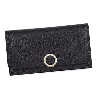 BVLGARI(ブルガリ) 長財布 BULGARI BULGARI BK 39373 WALLET FOR YEN WITH CLIP AND ZIP BLACK [並行輸入品]