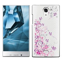「Breeze-正規品」iPhone ・ スマホケース ポリカーボネイト [透明-Purple] アクオスフォン カバー AQUOS CRYSTAL X/Y!mobile CRYSTAL Y...