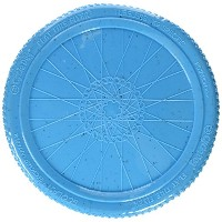 Cycle Dog Flat Tire Flyer-Flying Disc Interactive Durable Pet Dog Toy Blue Large