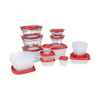 Rubbermaid Easy Find Lids Food Storage Container, Plastic and Glass 30-piece Set by Rubbermaid