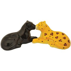 Westland Giftware Mwah! Panther and Leopard 2-Inch Magnetic Salt and Pepper Shakers by Westland Giftware