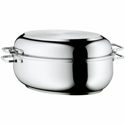 WMF Stainless Steel Deep Oval Roasting Pan, 16-1/4-Inch by WMF