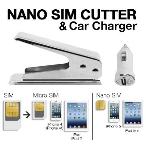 Techno Earthテつョ Nano Sim Cutter for Iphone 5 Ipad Mini Simcard Cutter Cut Any GSM Sim Into Nano or...