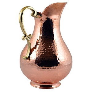 *NEW* CopperBull Heavy Gauge 100% Pure Solid Hammered Copper Moscow Mule Water Pitcher,70 fl. Oz. by CopperBull