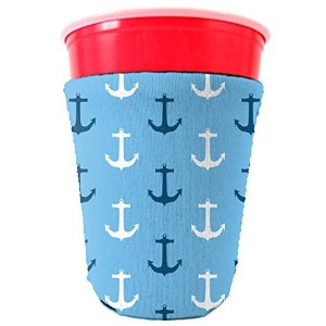 Coolie Junction Nautical Anchor Pattern Solo Cup Coolie by Coolie Junction