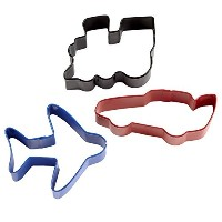 Wilton 3-Piece Transportation, Colored Cookie Cutter Set by Wilton