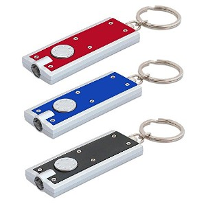 Lucky Line Products LED Key Chain Light, 1 Pack, Assorted Colors, Flat Style (63701) [並行輸入品]