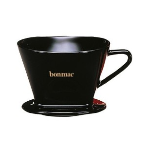 Bonmac Ceramic Cone 2 Cup Single Hole Coffee Dripper [並行輸入品]