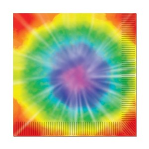 Tie-Dyed Luncheon Napkins (2-Ply) (16/Pkg) [並行輸入品]