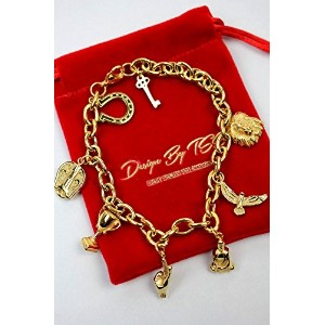 """DESIGN by TSS (デザイン・バイ・ティーエスエス) / """"LUCKY CHARM"""" BRACELET (ブレスレット) / gold (Gold Stainless Steel) ..."""