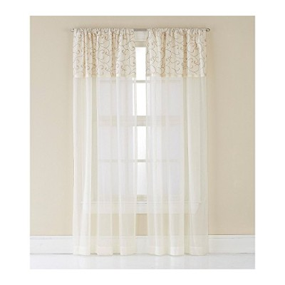 High Quality Westgate Curtain Panel, 95, Ivory