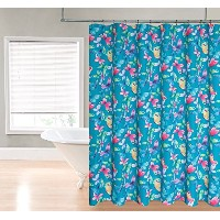 Regal Home Collections Butterfly Printed Fabric Shower Curtain, 70 by 72-Inch, Peacock Blue...