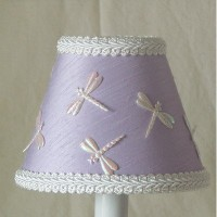 Silly Bear Lighting Dragonfly Dream Lamp Shade, Lavender by Silly Bear Lighting