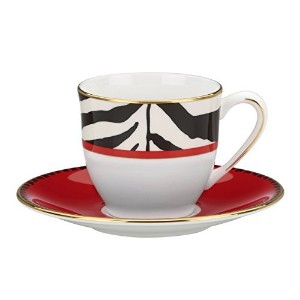 Lenox Scalamandre Zebras Demitasse Cup and Saucer, White [並行輸入品]