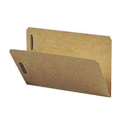 Kraft K Style Fastener Folders, Straight Cut, Top Tab, Legal, Brown, 50/Box (並行輸入品)