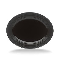 Mikasa Swirl Black Oval Serving Platter, 14-Inch by Mikasa