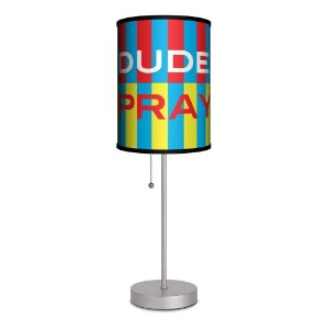 Lamp-In-A-Box SPS-TGN-DUSTR This Is The Good News - Dude Pray Stripes Sport Silver Lamp by Lamp-In...