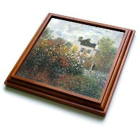 """TRV _ 126567BLNクロード・モネコレクション–Monets Garden at Argenteuil byクロードモネ、1873–五徳 8 by 8"""" ブラウン trv..."""